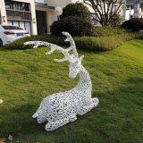 园林公园小区景观装饰小品商场美陈立体鹿群不锈钢雕塑