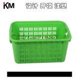 周转箱塑料蔬菜筐水果箱注塑模具 物流中转箱子