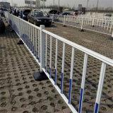 可移动市政道路护栏网 塑钢市政护栏 锌钢市政护栏