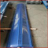 擋風板圖片 煤化廠防塵牆工程施工 防風固沙網