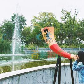 内蒙古呐喊音乐喷泉人工声控喊泉释放你的洪荒之力吧