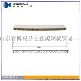 河北岩棉彩钢板价格 50mm岩棉复合板厂家
