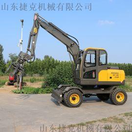 果园建设使用轮式挖机 小型轮式挖掘机 90小挖机