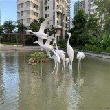 供应中山雅居乐仙鹤雕塑 玻璃钢动物造型雕塑
