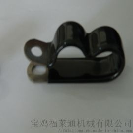 福莱通FLT-R单层浸塑管夹   304不锈钢金属管夹