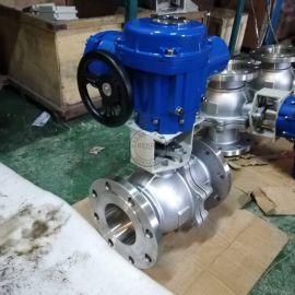 Q941F-16P DN100不锈钢电动球阀