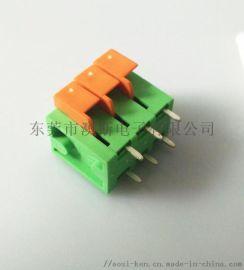 监控摄像弹簧式PCB接线端子台DG142V