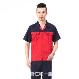 南京夏季短袖工作服 南京套装车间厂服定制