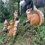 玻璃鋼松鼠雕塑 戶外公園模擬動物雕塑售樓處美陳裝飾