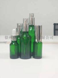 绿色精油瓶按压瓶乳液瓶喷雾瓶滴管瓶分装瓶玻璃瓶