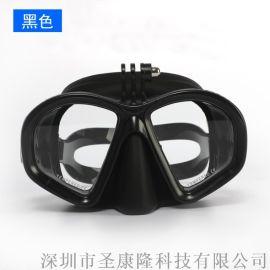 圣康隆浮潜三宝成人大框高清防雾护鼻训练潜水镜套装