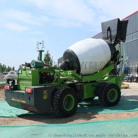 大型轮边减速桥小型水泥搅拌车 1.8方自上料搅拌车