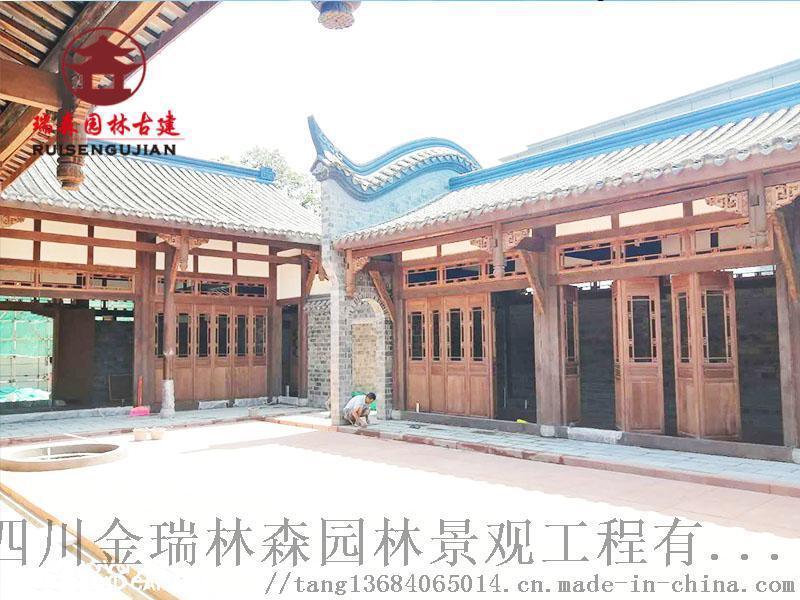成都仿古门窗厂,寺庙中式格子门窗定制加工