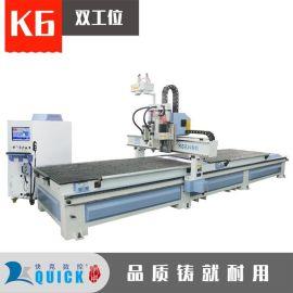 双平台排钻开料机板式家具数控 济南快克数控K6