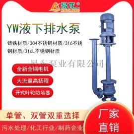 YW无堵塞液下污水泵 立式YW液下泵可选择单管双管