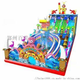 大型充气滑梯蹦蹦床商场内摆放为小朋友们提供玩耍场所