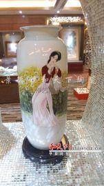 景德镇陶瓷大花瓶手绘青花瓷家居落地装饰品酒店摆设