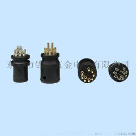 电动车防水插头 小9PIN防水头 M10防水连接器