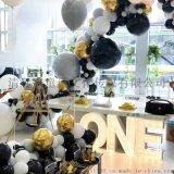 清远周岁生日派对布置美容院健身房开业庆典气球