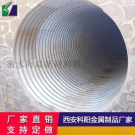 排水桥梁波纹管钢制涵隧道涵洞管地埋l式钢波纹管