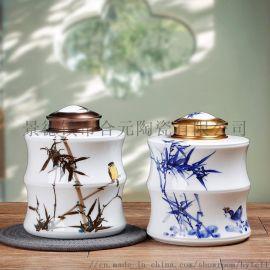 手绘半斤茶叶罐礼品生产厂家