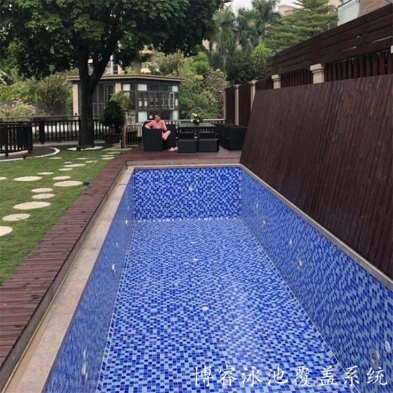 平移游泳池蓋 自動游泳池蓋板 防腐木材質 承重性強
