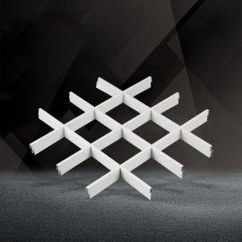 白色铝格栅吊顶 150X150铝格栅 葡萄架