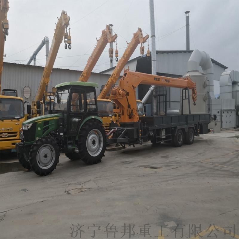 拉集装箱平板吊车 5吨拖拉机随车吊