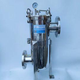 不锈钢非标单袋式过滤器 DN100袋式过滤机