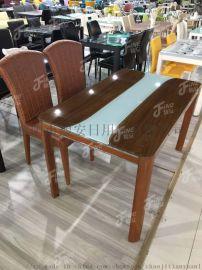 1.3米玻璃餐桌配4把椅子