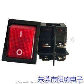 厂家直供大电流带灯船型开关 广东船型开关
