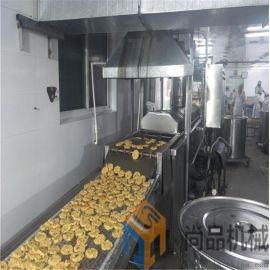 连续式玉米虾排油炸机 电加热大型虾排油炸线
