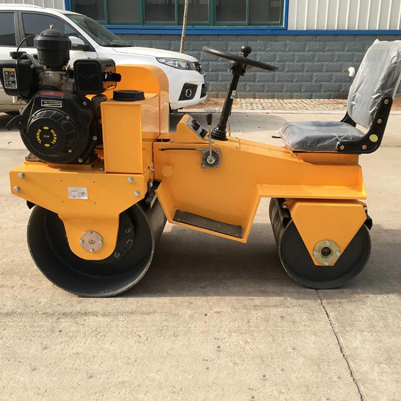 座驾式压路机振动双钢 1吨手扶单轮双轮压路机
