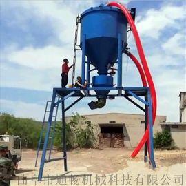 风力抽料机4.5米高龙门架自动落料装罐车吸灰机