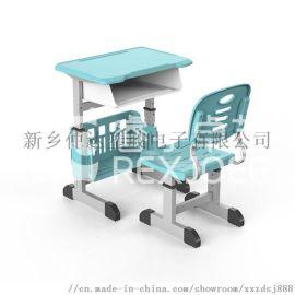 塑钢课桌椅 教室培训班用学生单人课桌椅
