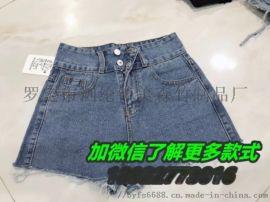 广州沙河市场牛仔短裤** 低价处理中老年裤子厂家