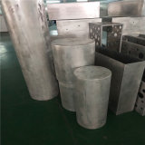 白色包衝孔柱鋁單板 橢圓包柱鋁單板定製