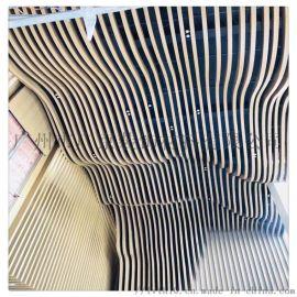 厂家供应铝合金材质木纹铝方通/弧形铝方通吊顶