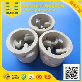 厂家直销供应 80mm陶瓷鲍尔环填料/化工填料 萍乡塔填料 免费样
