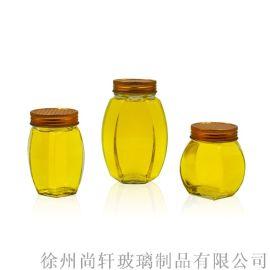 500g高款矮款六角蜂蜜瓶