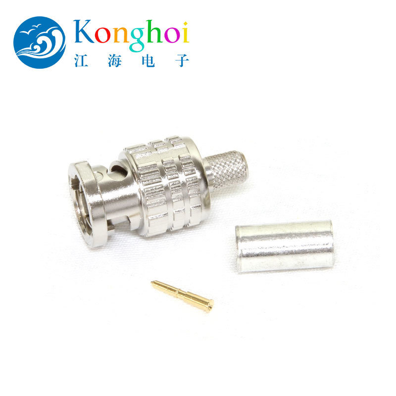 江海電子75Ω BCP-B系列BNC 壓接插頭