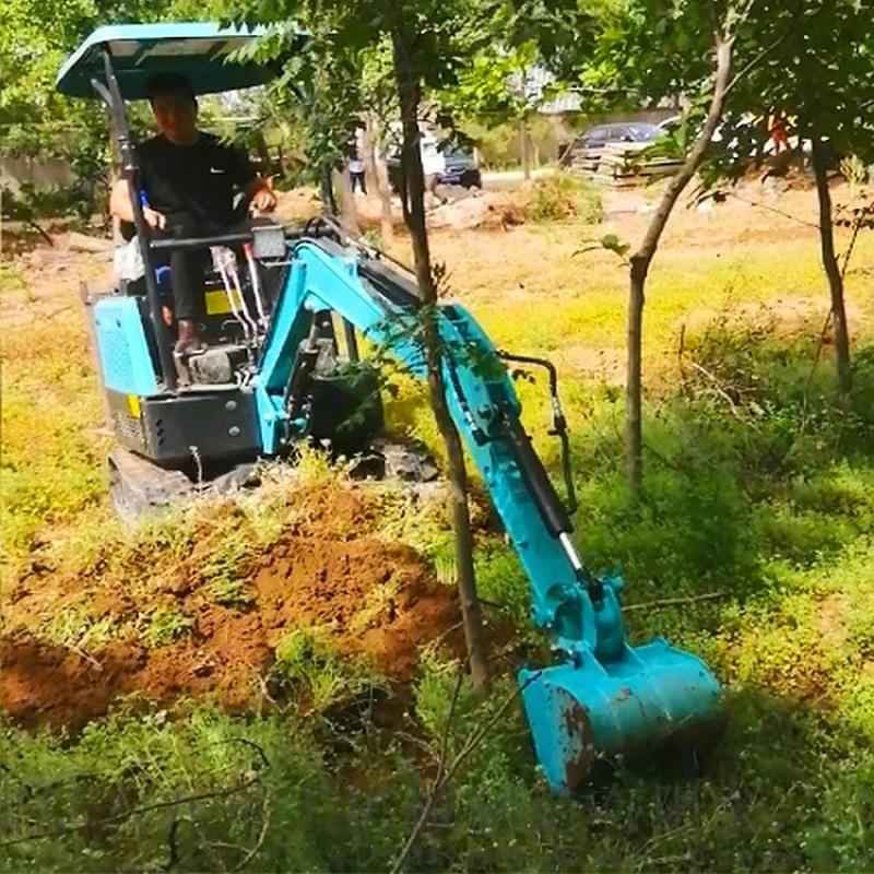 小挖机 沟渠管道小型挖沟机 六九重工履带式果树开沟