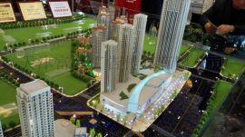 天津西青区建筑沙盘模型定制 房地产弧形沙盘模型制作找富国极速发货