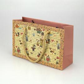 花色环保手提袋 白卡纸礼品袋
