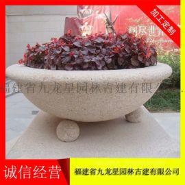 石材花盆雕塑 石头花盆价钱