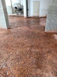 广西象州地面彩色印花地坪专业施工