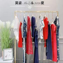 品牌折扣女装莫姿时尚连衣裙视频看货