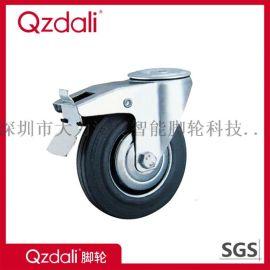 镀锌3-8寸工业灰胶脚轮