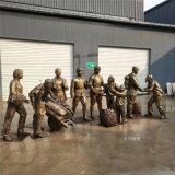 革命主題雕塑,仿銅人物雕塑,衝鋒戰士雕像