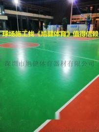 厂家直销篮球场地胶漆施工篮球场地坪漆施工公司